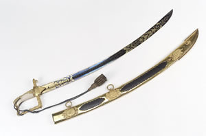 Presentation sword given to Robert Fowler
