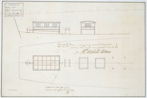 Ship plans of the 'Investigator': Quarter Deck